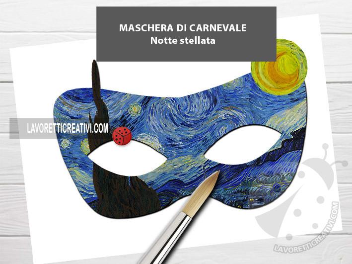 maschera carnevale Van Gogh