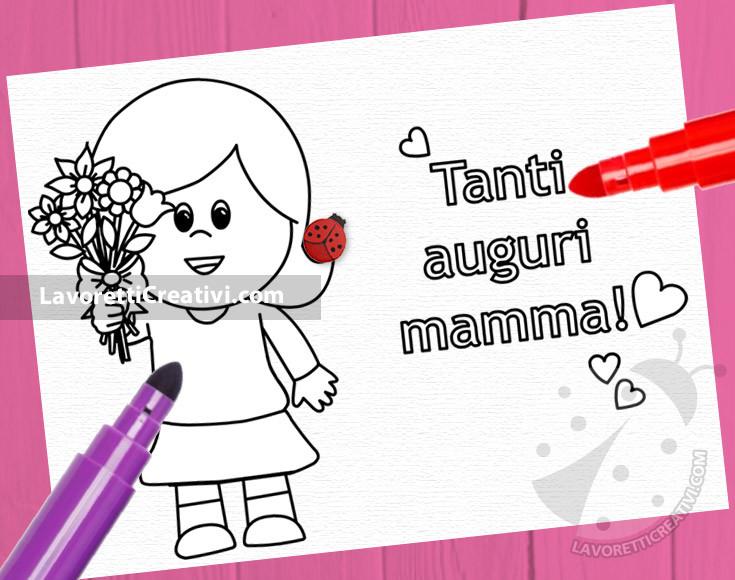 Festa della mamma disegno per bambini