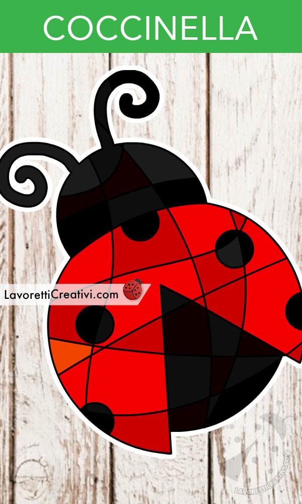 coccinella in stile vetro colorato