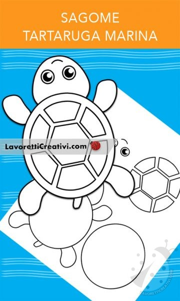 Sagome di tartaruga marina