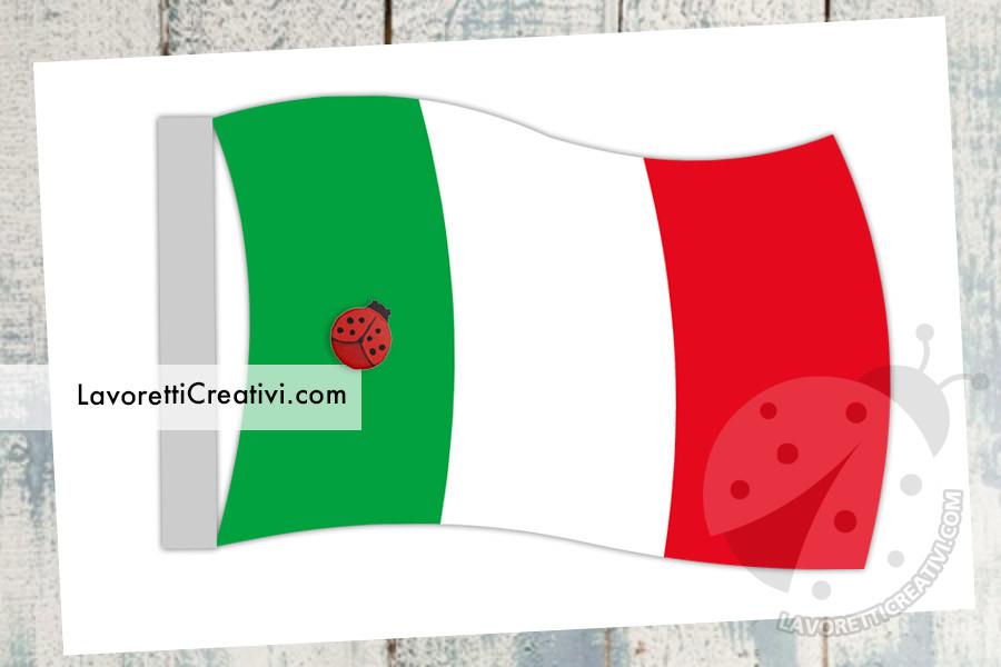 2 giugno - bandiera italiana da stampare