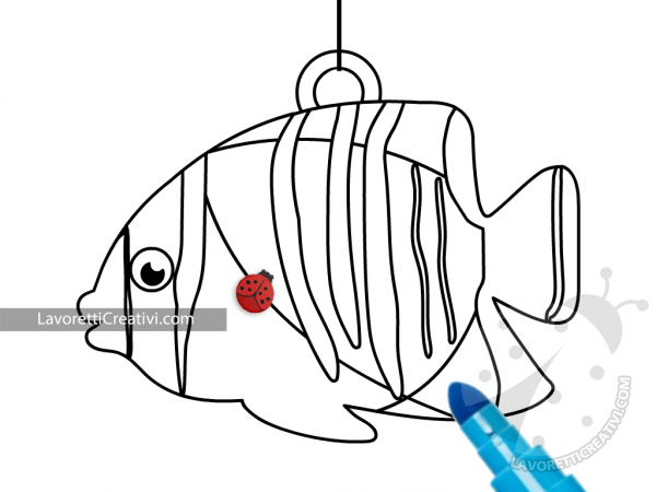 Disegno pesce tropicale