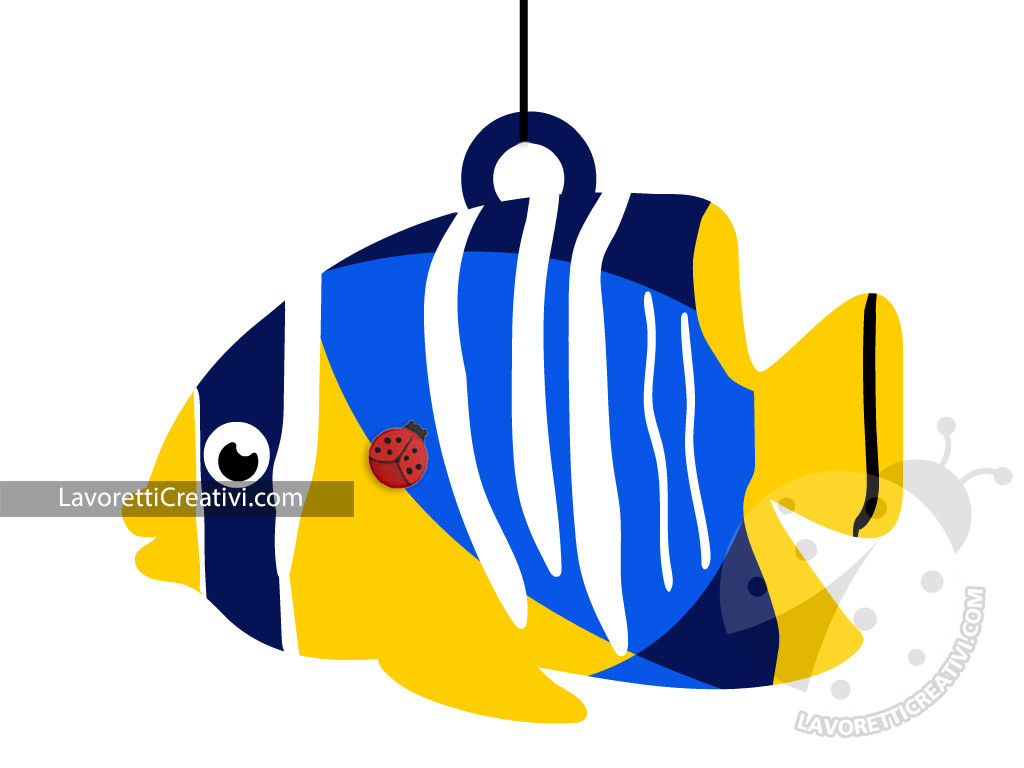 Pesce tropicale blue giallo