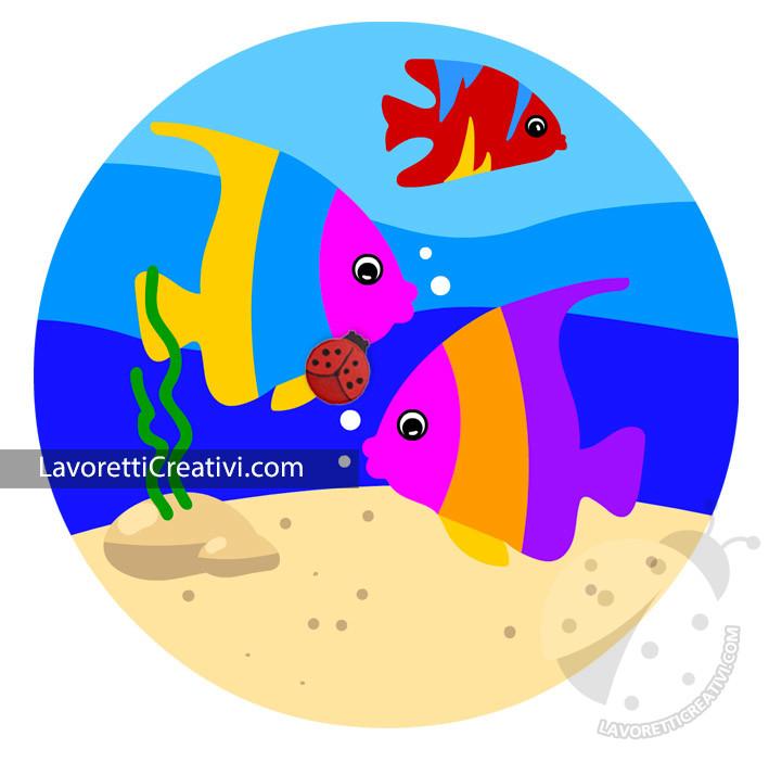 Pesci tropicali colorati per bambini