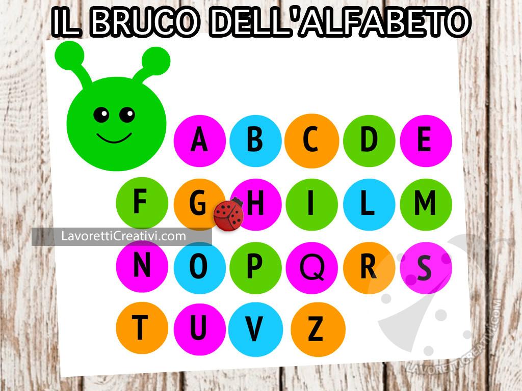 Il bruco dell'alfabeto a colori
